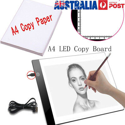 A4 LED Tracing Light Box Board Adjustable Brightness Drawing Pad Stencil Hot