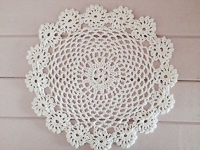 23 Cm New White Crochet Lace Doily