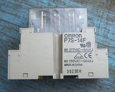 Omron Safety Relay G7S-4A2B 240V 3A Din Rail Mount P7S-14F Used Free Uk Post