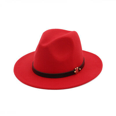 Men Fashion Gentleman Dad Fedora Hat Lady Wide Brim Party Church Jazz Panama Cap