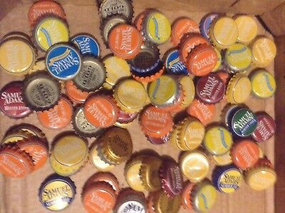 Lot 100 Sam Adams mixed beer bottle caps no longer in print