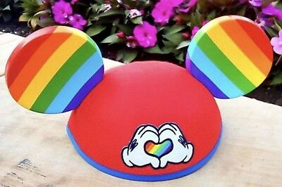 Disney Gaydays Official Mickey Mouse Rainbow Love Hat Pride Ears Limited Edition
