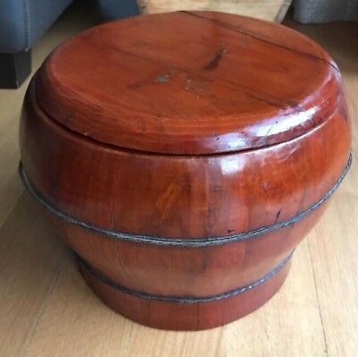 Pair of Antique Chinese Rice Grain Containers