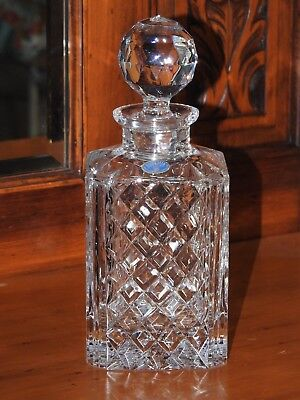 Bohemia Lead Crystal Decanter Czech - Never Used on Display VGC