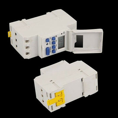 Digital LCD DIN Weekly Rail Timer Time Relay Switch Programmable AC 220V 16A UK