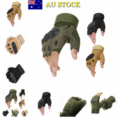 Half Finger Tactical Riding Gloves Combat Cycling Motocycle Driving Anti-Slide