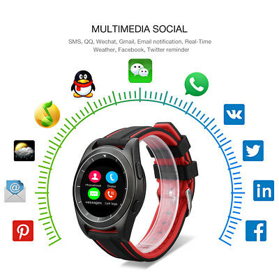 Bluetooth Montre Intelligente Bracelet Heart Rate Camera Pedometer Sedentary FR