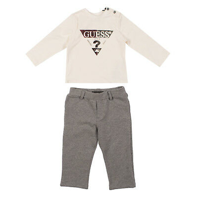 GUESS T-Shirt Top & Trousers Set 0-3M Long Sleeve Crew Neck N64G57-90IZ9
