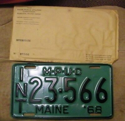 vintage maine license plate-INT 23-566 Maine '68 never used