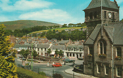 The Burgh Buildings Galashiels Picture Scotland c.1965 Printed Unposted Postcard