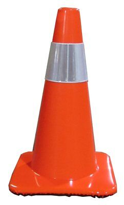 """Work Area Protection 18PVCS Polyvinyl Chloride Standard Traffic Cone with 4"""" VSB"""