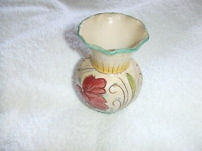 Vintage Pottery  Hand Painted Posy Vase signed
