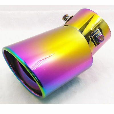 "Stainless Steel Exhaust Muffler Tip 2.5"" Inlet 63mm Colorful Brand New"