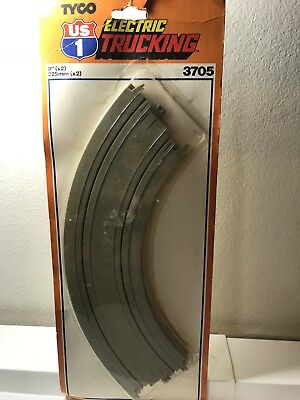 "Tyco U.S. Electric Trucking 9"" Curve Track, Set Of Two. NEW!"