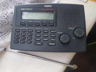Uniden Bearcat UBC 278CLT radio scanner 14 bands including 800MHz & aircraft