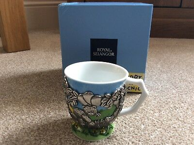 Royal Selangor  Baby Mug Cup  Picking Fruit Teddy Bears Picnic Collectable Rare