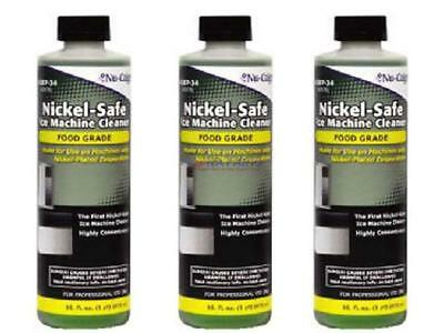 3 Bottles of 16oz Nickle Safe Ice Machine Cleaner. Safe for Manitowoc Ice