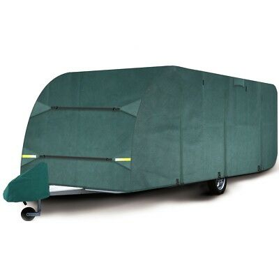Shield AC Premium Breathable 4-Ply Full Green Caravan Cover - Fits 23-25ft W346Y