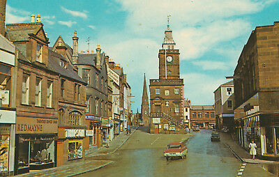 The Mid-Steeple Dumfries Picture Scotland c.1972 Printed Posted Postcard