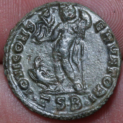 Roman Coin AE Nummus Constantine The great Thessalonika-IOVI CONSERVATORI