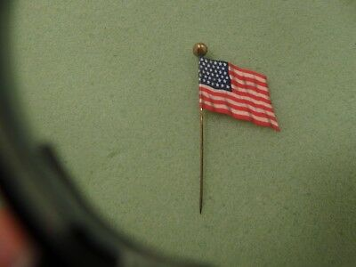 Original Louden Barn Equipment American Flag Celluloid Advertising Stickpin