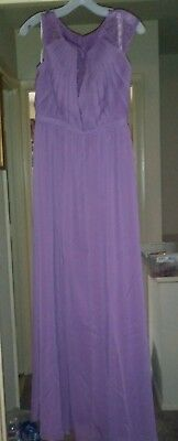 Davids Bridal dress/gown. 6.Purple.Brand new w/tags attached.Reduced price.