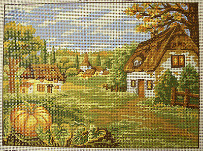 Pumpkin & Cottages in Autumn - new tapestry canvas