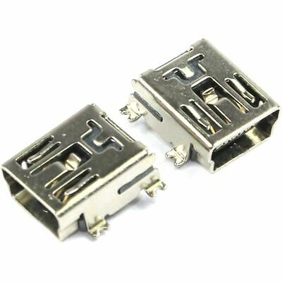 2 x USB Mini SMD Connector Socket Right Angle Type B 2.0 SMT Flux Workshop