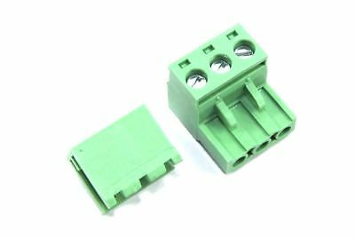 3 Pin Male Right Angle 5.08mm Female Screw Pair Set Green PCB CNC Flux Workshop