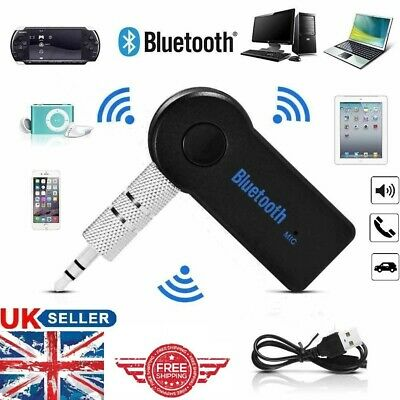 Wireless Bluetooth 3.0 Audio Aux 3.5mm Music Receiver Car Adapter Dongle + Mic