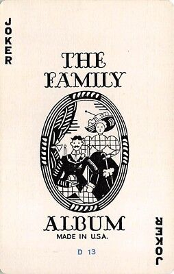 The Family Album Joker Single Swap Vintage Old Playing Card Made in USA