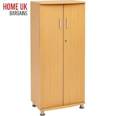 Cupboard Shelves Storage Filing Cabinet Matching Range Home Office Beech Colour