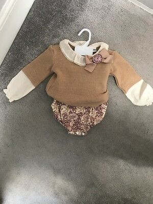 Baby girl Spanish Style Rochy outfit Size 18 Months