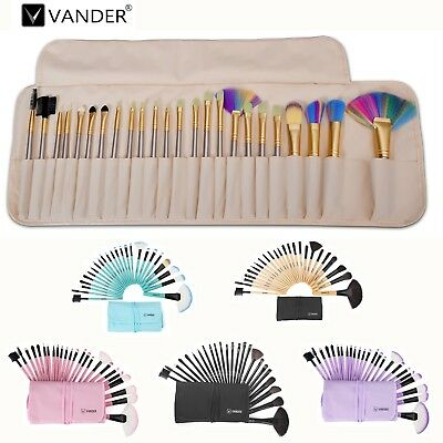 Vander 24pcs Cosmetic Makup Multicolor Optional Brush Kit Beauty Tool Collection