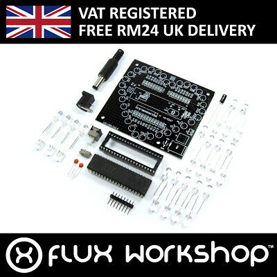 Blue LED Heart DIY Kit Unsoldered Black Blue Valentine Flux Workshop