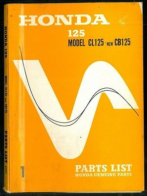 Parts List HONDA CB 125 K1 - CL 125 Catalogue des pièces 1967 / 68 Manuel Manual