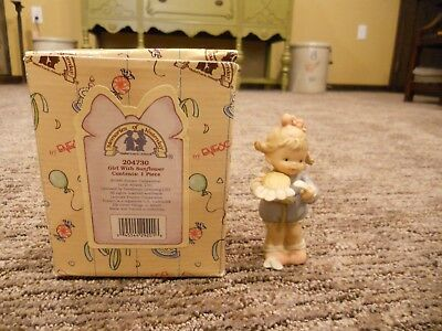 Vintage 1996 Enesco Memories of Yesterday Girl With Sunflower IOB