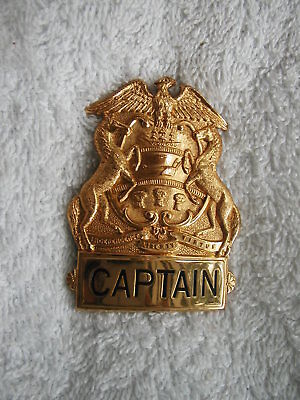 Vintage Pennsylvania Captain Badge