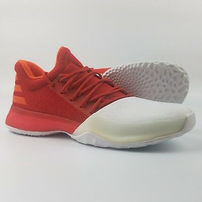 e8bfc7f73918 Adidas James Harden Vol 1 Youth Basketball Shoes Red White BY3483 Boost Kids
