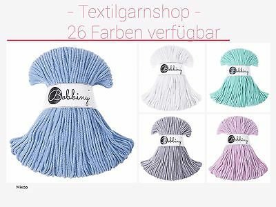 Bobbiny Rope Cords 100 Meter/3 mm Alternative Hoooked Textilgarn Zpagetti Hooked