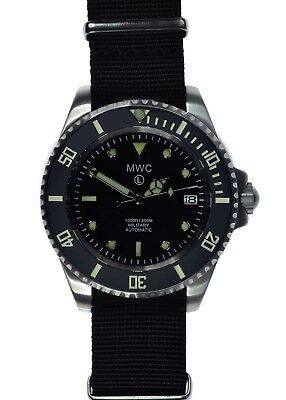 MWC Stainless Steel 24J Automatic Military Divers Watch with Sapphire Crystal