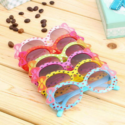 Baby Kids Children Sun Glasses Plastic Sunglasses Girls Bow Eyewear AZ