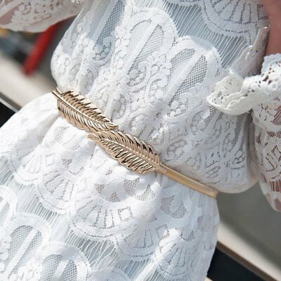New Style Lady's Fashion Women Trendy Belt Alloy Leaf Waistband Waist Belt AZ