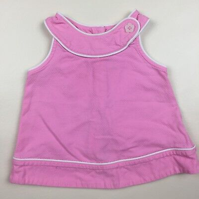 Gymboree Girl's Top Size 12-18 months Pink 100% Cotton Short Sleeve 110