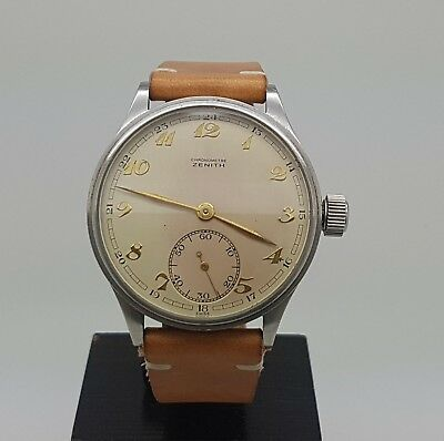 "Rare Vintage Zenith Chronometre Zenith Grand Prix Paris 1900 ""Jumbo"" Watch"