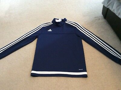 Boys Adidas Climacool Zip Neck Training Top Size Age 11-12