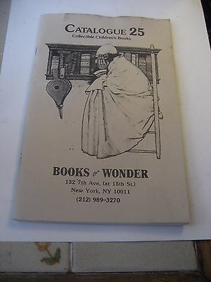 Books Of Wonder Catalogue 25 Collectible Children's Book Store/still Open