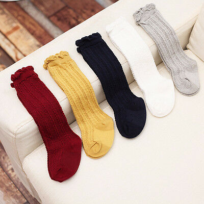 2017 Newborn Baby Toddler knee high sock baby Girls Boys Solid Long Socks NJ