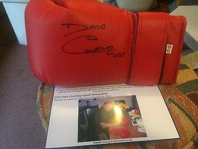 Dave Courtney Signed Boxing Glove. Kray Twins, London Gangsters