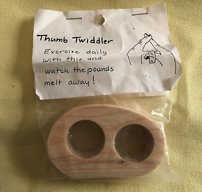 Wooden Thumb Twiddler Exercise Device In Original Package Old Stock